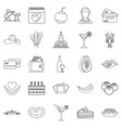stag party icons set outline style vector image vector image