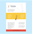 template layout for paint brush comany profile vector image