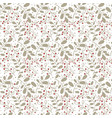 transparent winter pattern with branches drawn in vector image vector image
