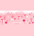valentines day banner with giftsheartsletters vector image vector image