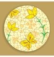 Vintage Mosaic Flower vector image vector image