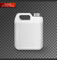 white plastic jerrycan oil cleanser detergent vector image