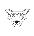 wolf doc icon vector image vector image