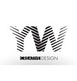 yw y w lines letter design with creative elegant vector image