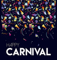 happy carnival party event poster design template vector image