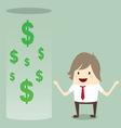 businessman happy get money bonus from bank vector image