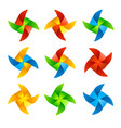 colorful wind mill set vector image