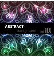 Abstract disco glowing ornament of background vector image vector image