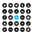 airport service glyph icons set vector image