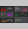 analytics collection of pages vector image