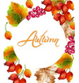 autumn background watercolor eglatine fall leaves vector image vector image