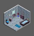 bathroom isometric interior view vector image vector image