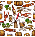 beer pub snacks and drinks seamless pattern vector image vector image
