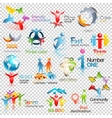 Big collection of people logos Business vector image vector image