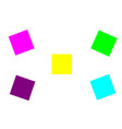 blank colorful sticky notes or post it notes vector image vector image