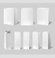 blank white boxes rectangular medicine and vector image vector image