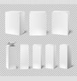 blank white boxes rectangular medicine vector image vector image