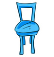 blue old chair on white background vector image