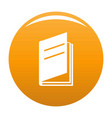 book ajar icon orange vector image