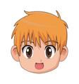 boy anime male manga cartoon comic vector image vector image