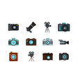 camera icon set flat style vector image vector image