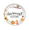 circle frame for harvest festival vector image
