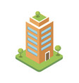 commercial skyscraper isometric 3d icon vector image vector image
