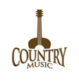 country music sign symbol design vector image