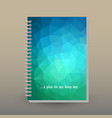 cover of diary or notebook blue green neon vector image vector image