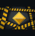 crime ribbon template caution stop police line vector image