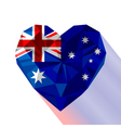 crystal gem jewelry Australian heart with the vector image vector image