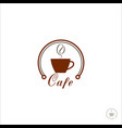 cup coffee logo for coffee shop coffee beans vector image vector image