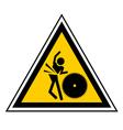Danger machine sign vector image vector image