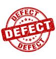 defect red grunge round vintage rubber stamp vector image vector image