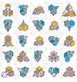 engineering constructions collection abstract set vector image vector image
