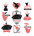 female clothes shop or fashion boutique isolated vector image vector image