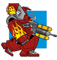 Flame Thrower Machine vector image vector image