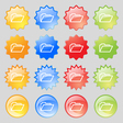 Folder icon sign Big set of 16 colorful modern vector image vector image