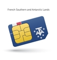 French Southern and Antarctic Lands phone sim card vector image vector image