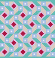 geometric pattern with diamonds and squares vector image vector image