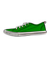 green sneakers icon flat of sneakers vector image vector image