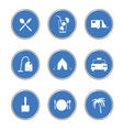icon in blue circle vector image vector image