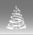 Illumination lights tree isolated on transparent vector image