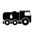 isolated oil truck icon vector image vector image