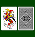 joker playing card vector image vector image