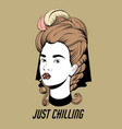 just chilling hand drawn pretty vector image vector image