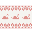 knitted pattern with swan vector image vector image