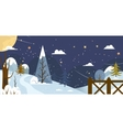 landscape banner or background with winter nature vector image
