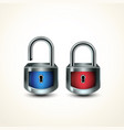 locks closed unclosed vector image vector image