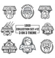 logo collection set with 3on3 game theme vector image vector image